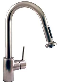 Hansgrohe Talis S High Arc Pull-Out Kitchen Faucet, Stainless Steel Optic #06801860