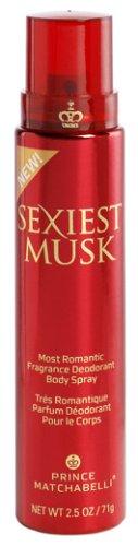 Sexiest Musk By Prince Matchabelli For Women. Fragrance Body Spray 3 X 2.5 Oz.