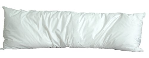 Review White Goose Feather/Down Body Pillow (Size 20 x 60)
