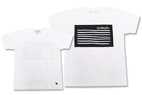 (マーク ゴンザレス) Mark Gonzales Tシャツ 半袖 メンズ フラッグ ヘビー ポケット サイズM ホワイト