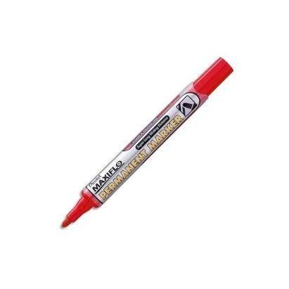 Pentel Lot de 6 marqueurs permanent MAXIFLO NLF50, rouge