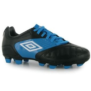Umbro Geometra Cup FG Junior Football Boots Black/White 5.5 UK UK