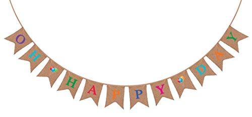 Banderolle-en-toile-de-jute--Oh-Happy-Day--Dcorations-rustiques-pour-fte-danniversaire-Marriage-Annonce-de-Baby-Shower-Retraite-Fille-ou-garon-Flicitations-Fte-Accessoires