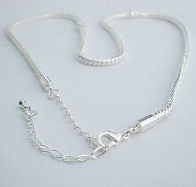 Starter charm Necklace fits Pandora, Biagi, Chamilia,