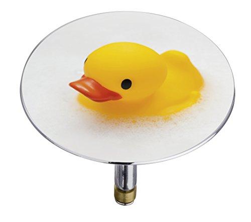 21848100 Badewannenstöpsel Pluggy XXL Duck, Abfluss-Stopfen, für alle handelsüblichen Abflüsse, Kunststoff, 7,5 x 6 x 7,5 cm, mehrfarbig