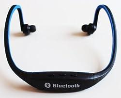 USB Sports Wireless Bluetooth Headset Headphone for Apple iPhone, iPad, Blackberry, HTC, Samsung , Samsung S3, Samsung S2, Nokia, Motorola, LG , Sony Ericson, PDA, Tablet PC, PC, Laptop and any Bluetooth Enabled Device (Blue)
