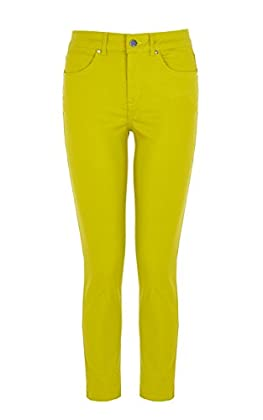 Coated cropped colourful skinny jean