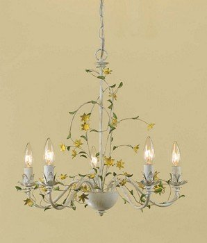 Af Lighting 7048-4H 4 Light Kansas Mini Chandelier, Cream front-564574