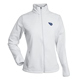 Tennessee Titans NFL Sleet Ladies Long Sleeve Jacket (White) by Antigua