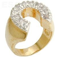 Jewelry - Horseshoe Design Clear Swarovski Ring SZ 12