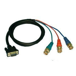 VGA Male to 3 BNC Male Shielded RGB Video Cable - 6' : 45-5506
