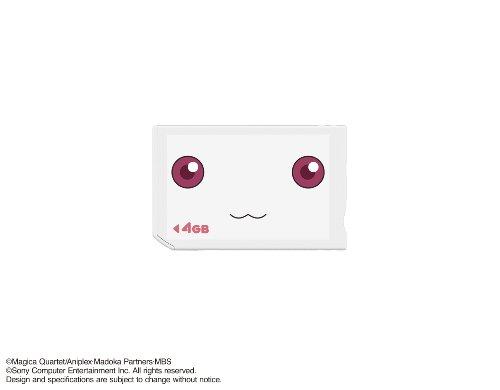 """魔法少女まどか☆マギカ ポータブル """"メモリースティック PRO デュオ"""" (Mark2) 4GB (「キュゥべえ」カスタムテーマDLコード同梱)"""