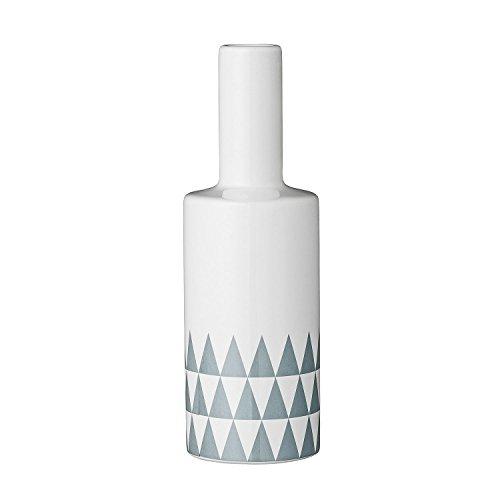 bloomingville vase triangle wei grau 6 5 x 19 5cm. Black Bedroom Furniture Sets. Home Design Ideas