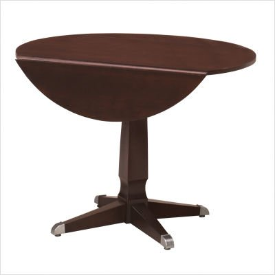Buy Low Price Superior Furniture Co. Harmony Lorcy Round Drop Leaf Dining Table Distressing: Antiqued, Finish: Ancestor Stain (1131 AntiquedAncestor Stain)