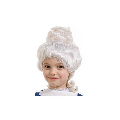 Girls White Colonial Wig