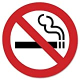 No Smoking Self-stick Decal / Label (Square) (3″x3″)