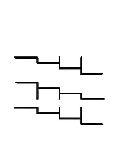 Homemania  Set Mensola 3 pezzi Step Nero
