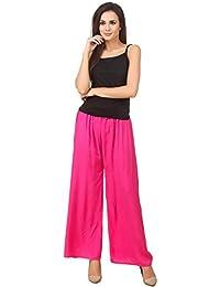 Svadhaa Cotton Rayon Pink Palazzo