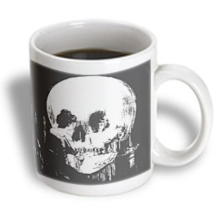 3Drose Mug_46711_2 All Is Vanity Ghost, Halloween, Optical Illusion, Paranormal, Seasonal, Silhouette, Skeleton Ceramic Mug, 15-Ounce