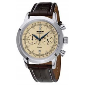 Perigaum Classic Chrono Chronograph Men's Watch - Stainless/Ivory - P0704SI