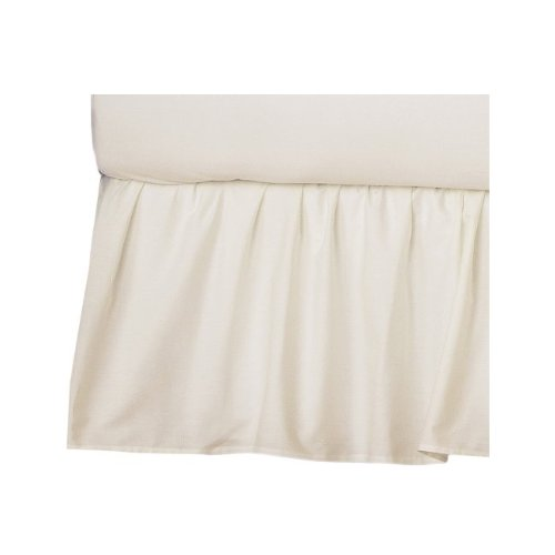 American Baby Company 100% Cotton Percale Crib Skirt, Ecru, Ruffle back-1078984