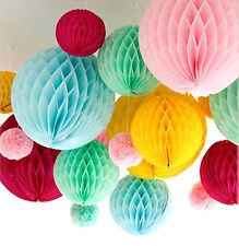 Honeycomb Party Decoration- Red (Set of 3) 10