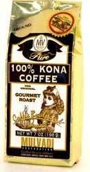Hawaiian Lunch Bag Gift Basket Mulvadi Coffee Ground 100% Pure Kona Medium 4 Bags