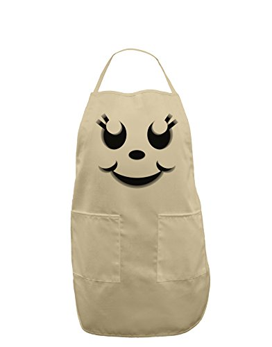 Cute Girl Jack O Lantern Pumpkin Face Adult Apron - Stone - One-Size