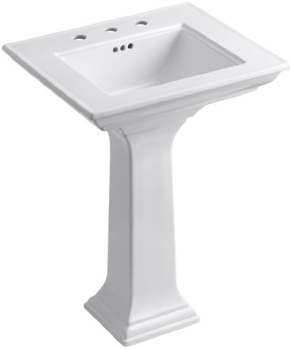 Lowest Price! Kohler K-2344-8-0 Memoirs Pedestal Lavatory with Stately Design and 8 Centers, White