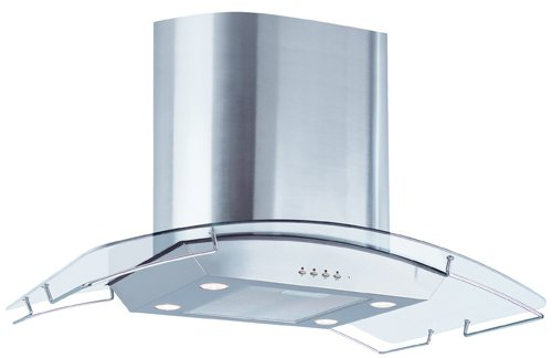 Air King Ibiz36Gl 36-Inch Ibiza Chimney Style Island Mount Range Hood With Glass Canopy, Stainless Steel front-6822