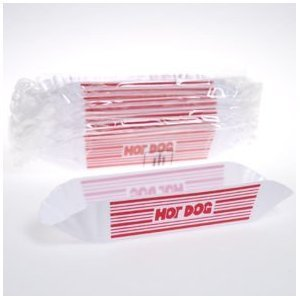 Plastic Hot Dog Holders Picnic BBQ Party (Package Of 12)