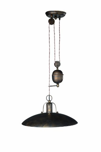 Eseo Foster 37486/86/13 Adjustable Height Ceiling Pendant (Rustic)