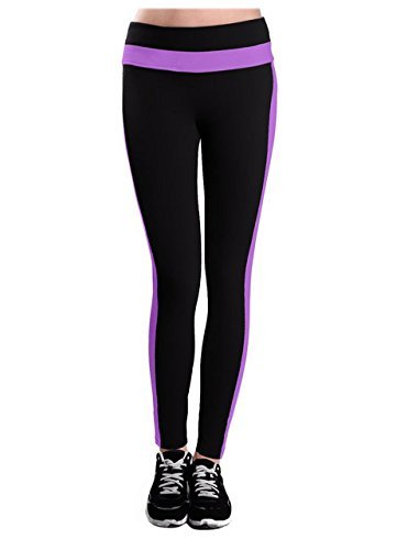 Women's Legging Sports Pants With Pockets Purple Medium