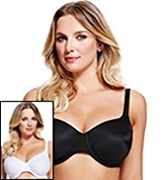 2 Pack Non-Padded Underwired T-Shirt DD-G Bras