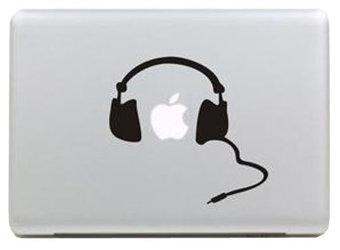 (アニヴェール) Anniverl Mac book Pro & Mac book Air 対応 アートステッカー(sticker) ヘッドフォン 【Anniverlオリジナルあぶらとり紙セット】