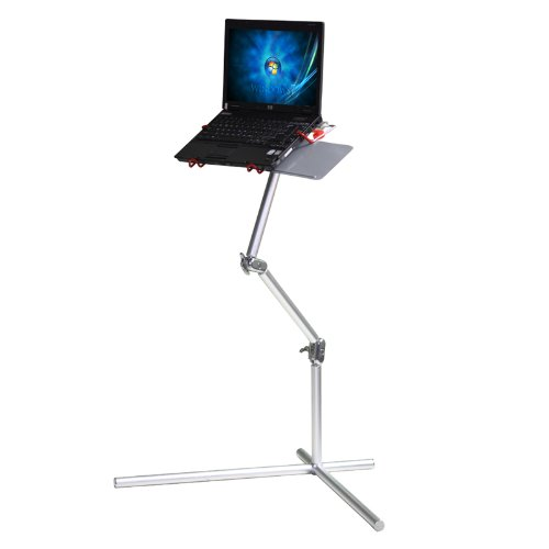 Koolertron New Silver Aluminum Nottable Laptop Universal 360 Degrees Adjustable Stand Foldable Stand With Mouse Pad Desk Table,Fis For 10-17 Inch Laptop With Maximum Weight Up To 15Kg