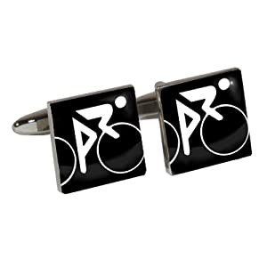 Athletic Event Cufflinks with Cycling design