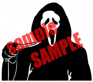 SCREAM SCARY MOVIE WHITE VINYL DECAL STICKER