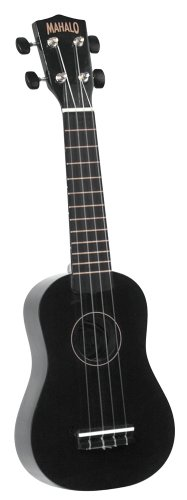 Mahalo U-30BK Painted Economy Soprano Ukulele, Black