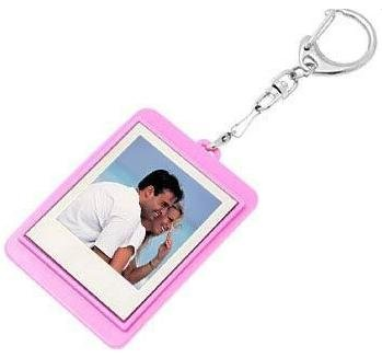 "Game Tecnik 1.5"" Pink Mini Digital Photo Frame Keyring"