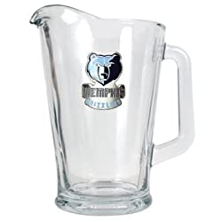 Memphis Grizzlies 60oz Glass Pitcher - Primary Logo NBA Basketball