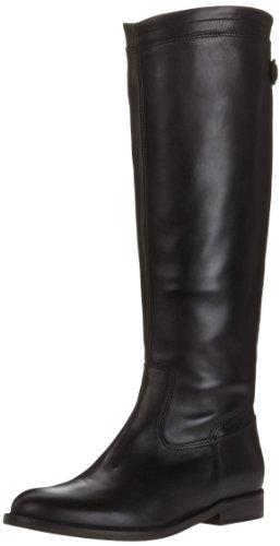 Jonak225-2132 - Stivali da cavallerizza, alla caviglia, foderati, caldi Donna , Nero (nero), 37 EU