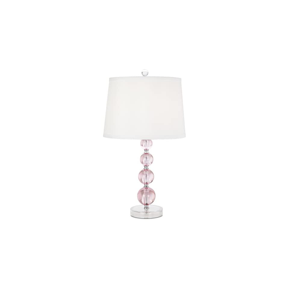 Pink Stacked Ball Acrylic Table Lamp On Popscreen