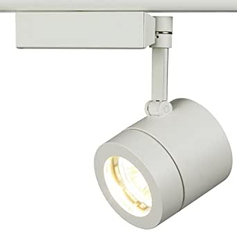 lightolier classic white cylinder track light track lighting heads amazon. Black Bedroom Furniture Sets. Home Design Ideas