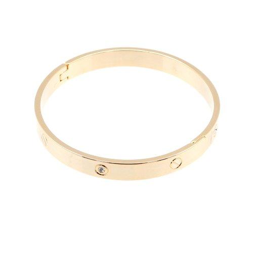 14AC4002 Bangle Bracelet EXO eco wear bracelets ゴールドバングルシルバーバングルブランドスタイルシンプルブレスレット (gold)