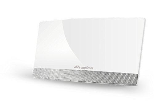 Meliconi 881014 Antenna TV amplificata per Interni, Bianco