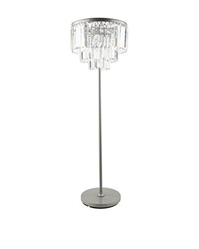 Surya Luana 8-Light Floor Lamp, Brushed Silver