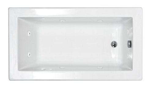 Sea Spa Tubs S3260Vnwr Tubs Venetian 32 By 60 By 23-Inch Rectangular Whirlpool Jetted Bathtub, White