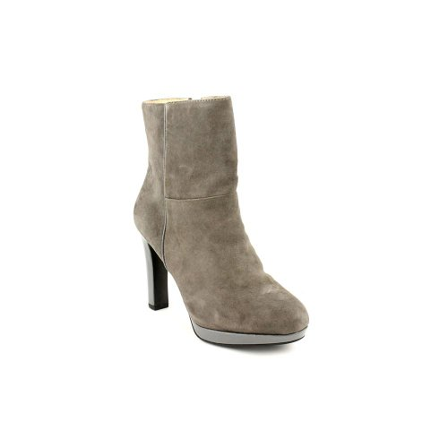 Ellen Tracy Play Womens Size 9 Gray Kid Suede Fashion Ankle Boots