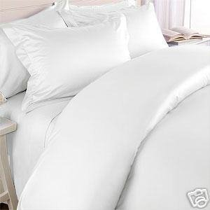 Solid White 300 Thread Count Queen Size Duvet Cover Set 100 % Egyptian Cotton 3pc Comforter Cover Set Button Enclosure